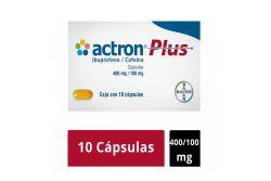 Actron Plus 400 mg / 100 mg Caja Con 10 Cápsulas