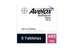 Avelox 400 mg Caja Con 5 Tabletas -RX2