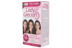 Lady Grecian 5 Tinte En Shampoo Cabello Normal Caja Con Frasco Con 120 mL