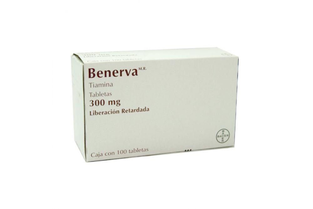 Benerva 300mg Caja Con 100 Tabletas De Liberación Prolongada