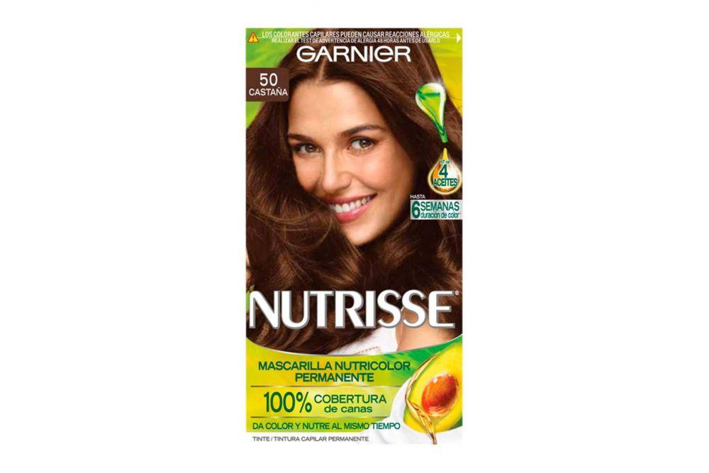 Garnier Nutrisse Tinte Caja Con 1 Aplicación Color Castaño Claro 50