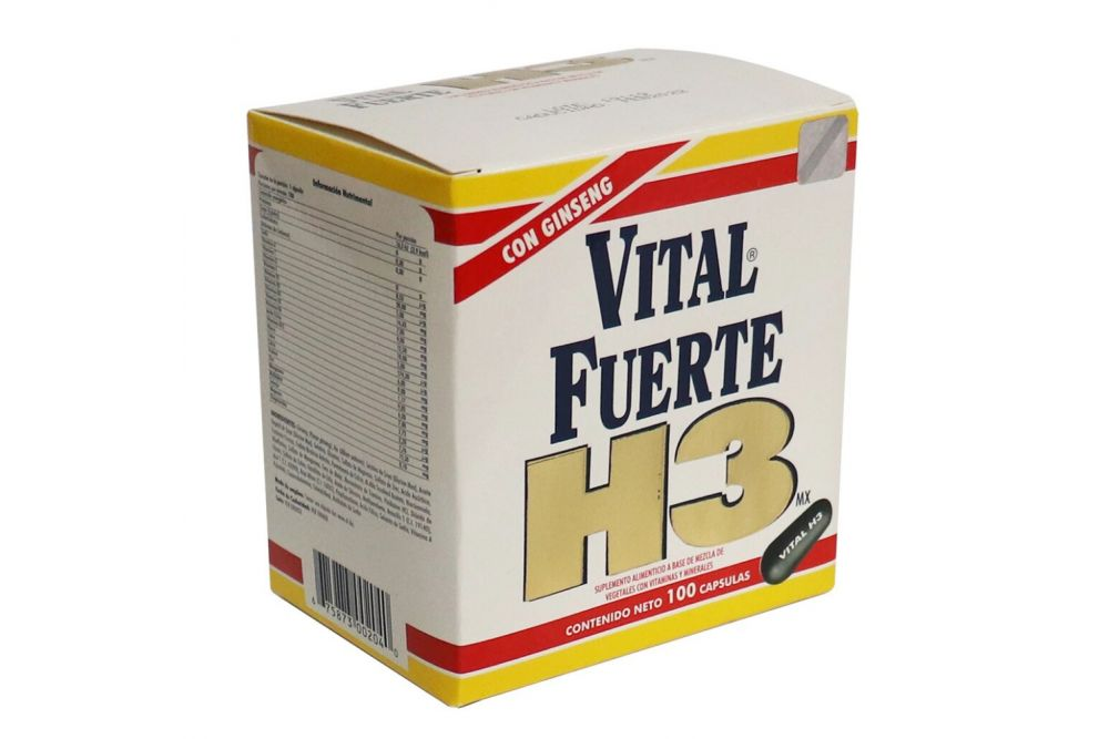 Vital Fuerte H3MX Caja Con 100 Cápsulas