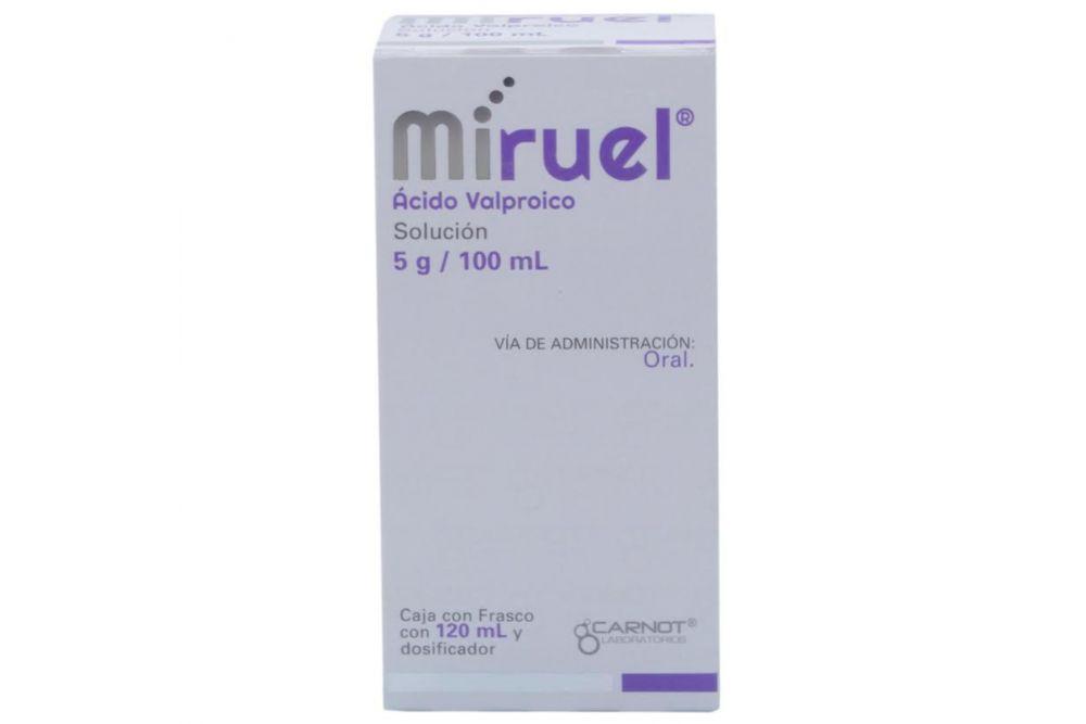 Miruel Solución 5 g/100 mL Caja Con Frasco Con 120 mL