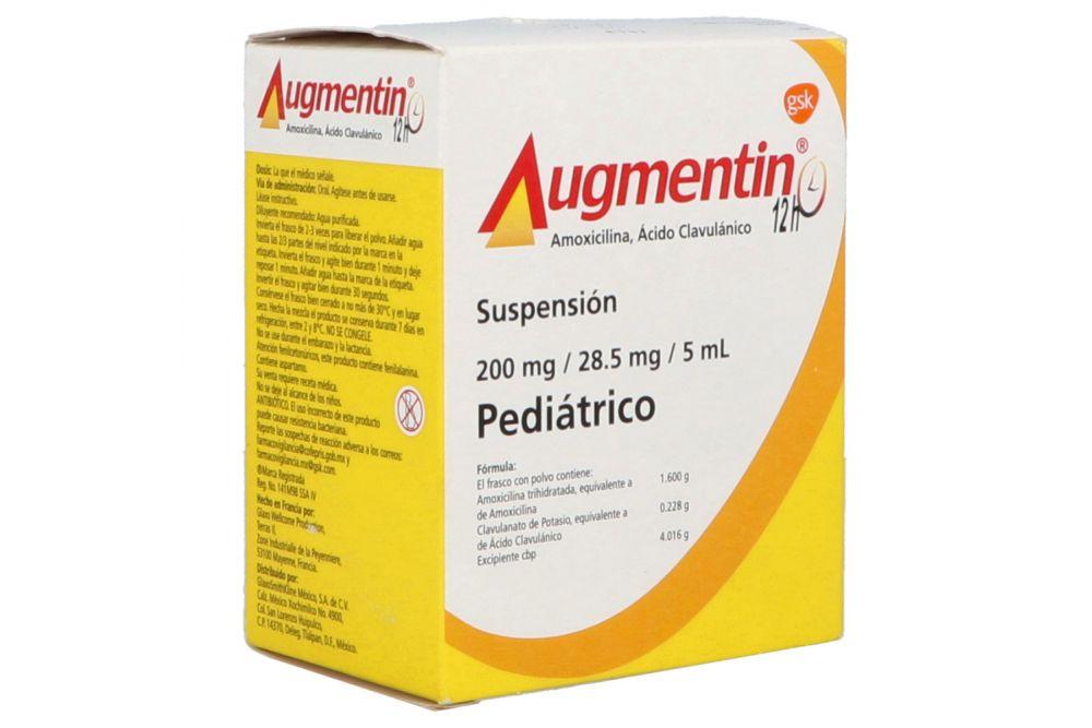 Augmentin 12H 200 mg/28.5 mg/5 mL Frasco Con polvo 40 mL - RX2