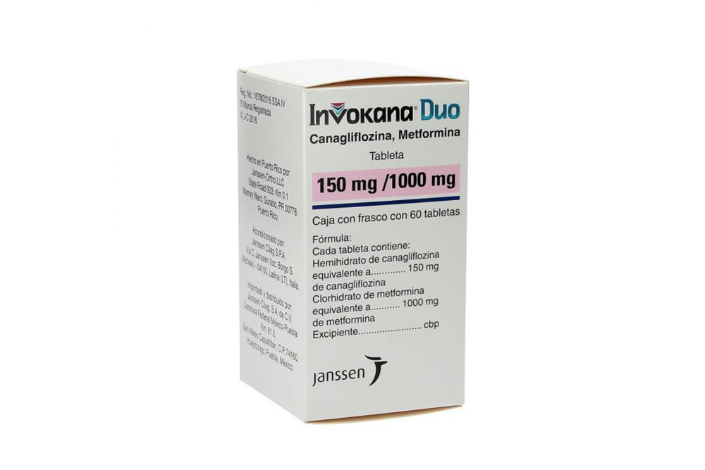 Invokana Duo 150 mg / 1000 mg Caja Con 60 Tabletas