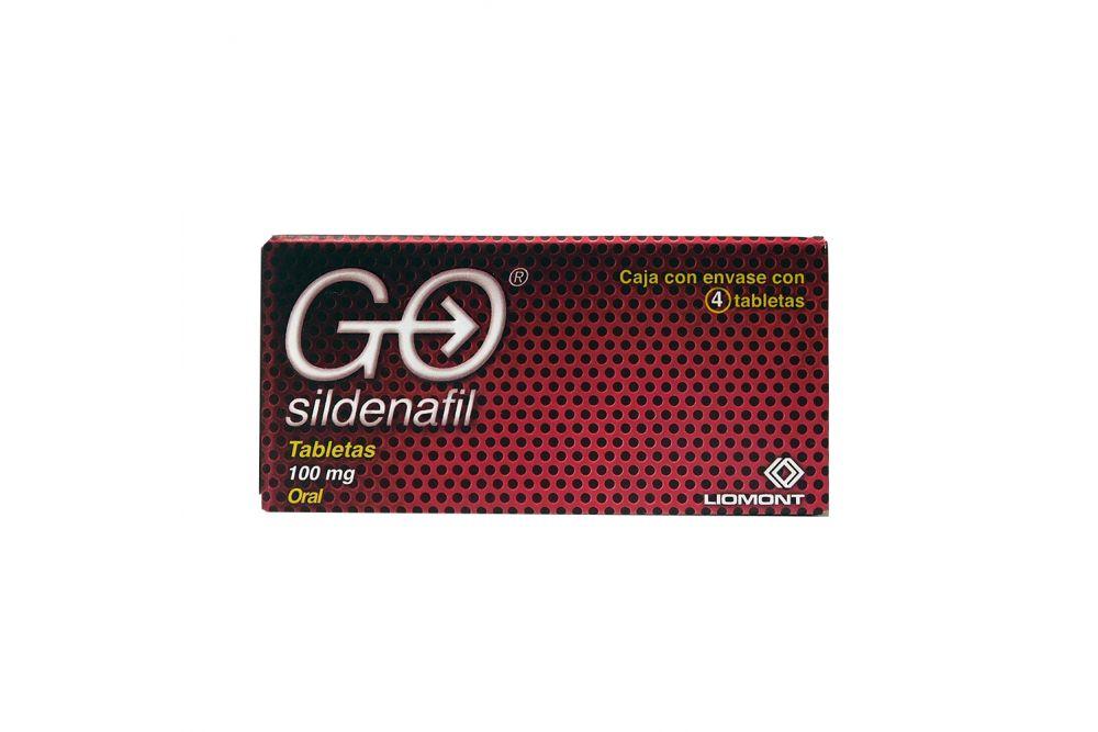 GO 100 mg Caja Con 4 Tabletas