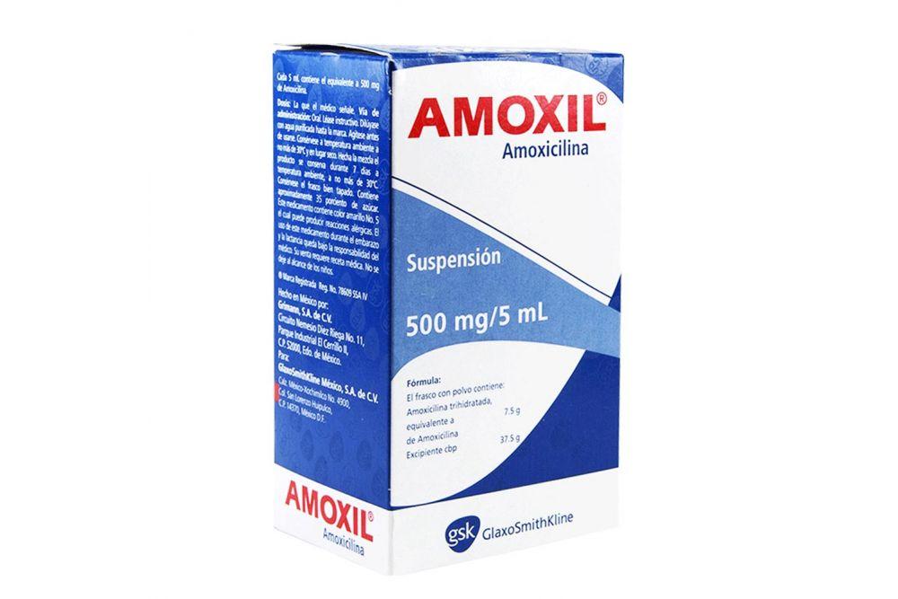 Amoxil Pediátrico 500 mg Suspensión Frasco Con 75 mL -RX2