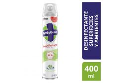 Desinfectante En Aerosol Family Guard Frescura Campestre Frasco Con 400 mL