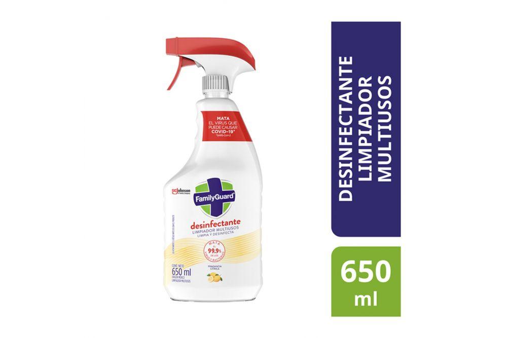 Desinfectante En Aerosol Family Guard Floral Frasco Con 650 mL