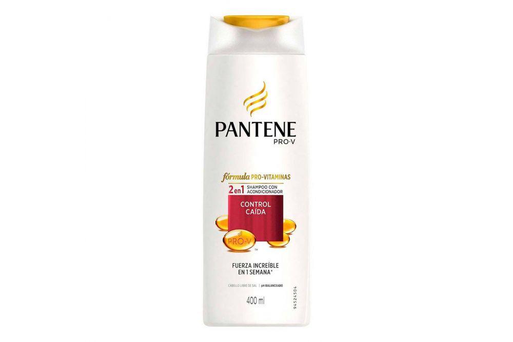 Shampoo Con Acondicionador Pantene Pro-V Control Caída Frasco Con 400 mL