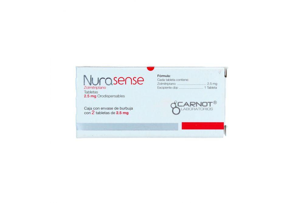 Nurasense 2.5 mg Caja Con 2 Tabletas