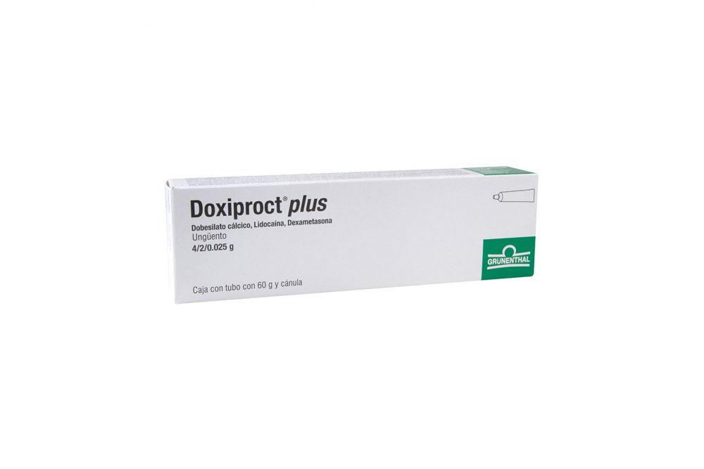 Doxiproct Plus Ungüento Caja Con Tubo Con 60 g - RX