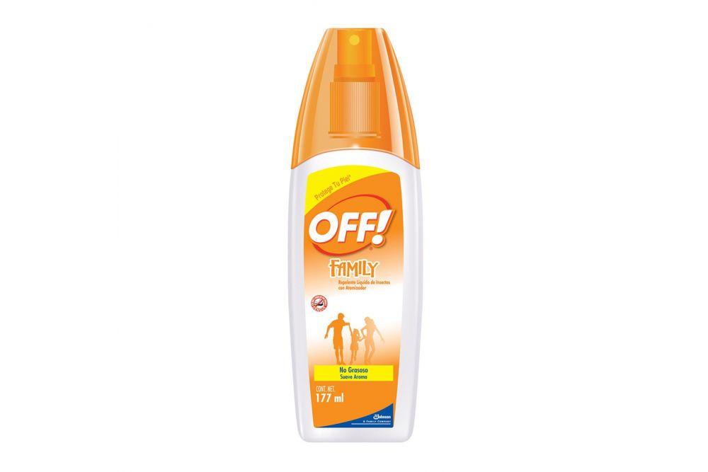 Repelente Off Family Frasco Spray Con 177 mL