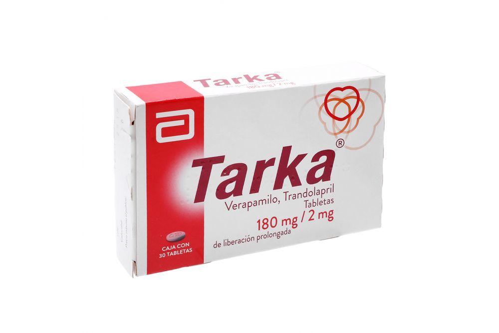 Tarka 180mg/2mg Caja Con 30 Tabletas