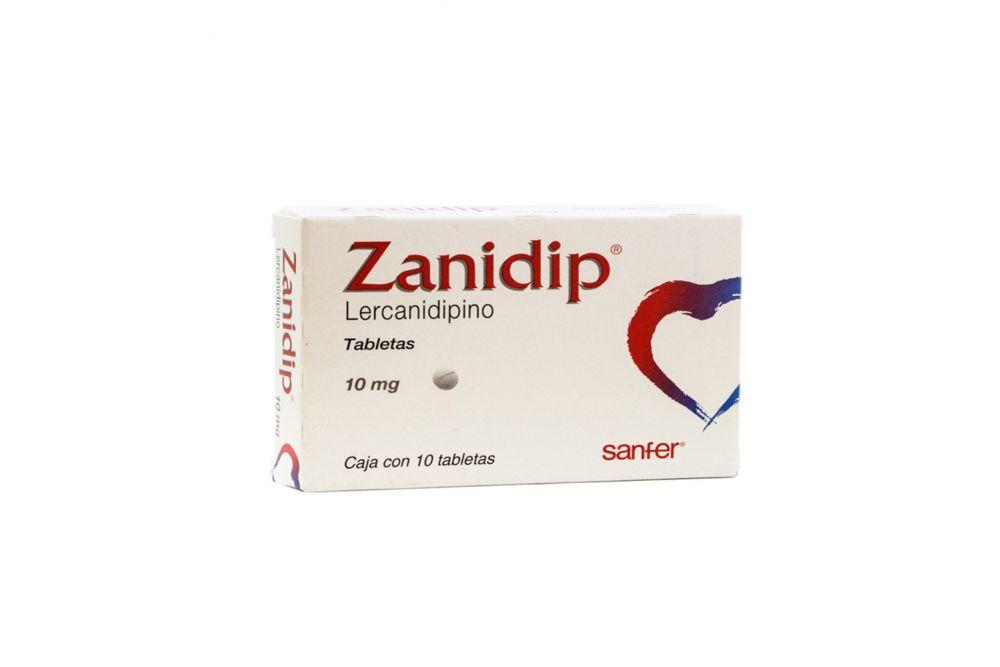 Zanidip 10 mg Caja Con 10 Tabletas