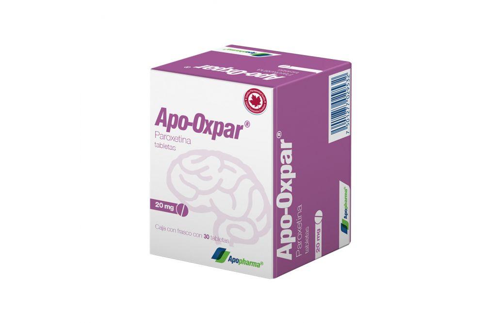Apo-Oxpar 20 mg Caja Con Frasco Con 30 Tabletas