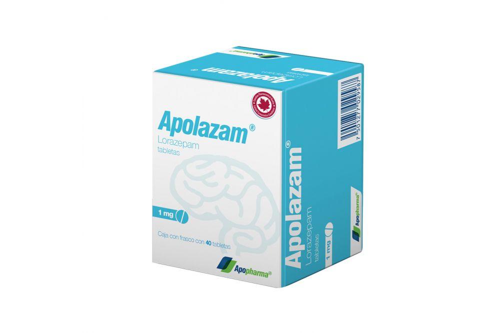 Apolazam 1 mg Caja Con Frasco Con 40 Tabletas - RX1