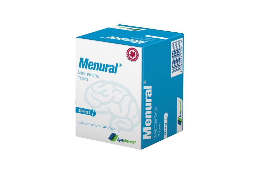 Menural 20 mg Caja Con Frasco Con 28 Tabletas