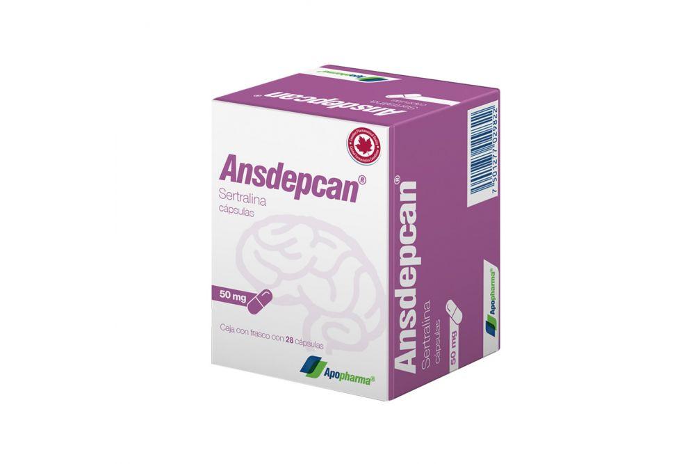 Ansdepcan 50 mg Caja Con Frasco Con 28 Cápsulas