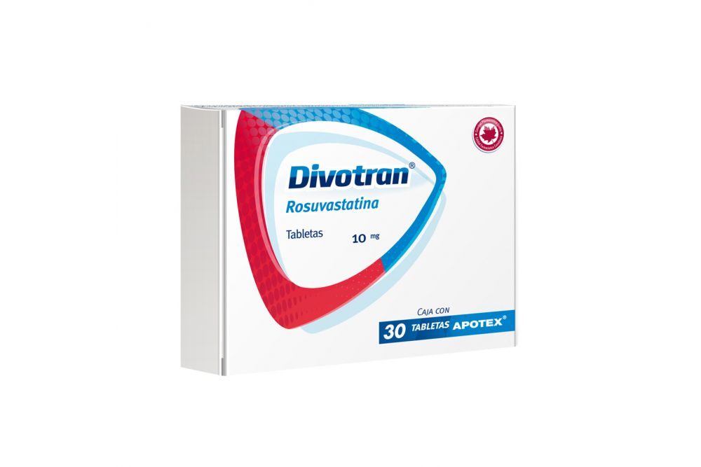 Divotran 10 mg Caja Con Blíster Con 30 Tabletas