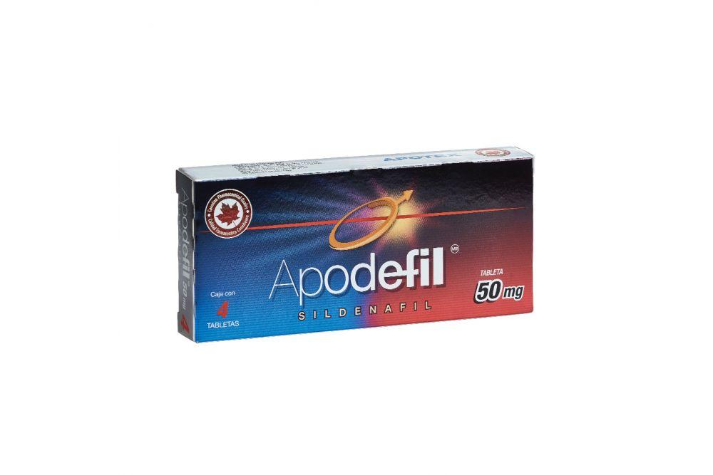 Apodefil 50 mg Caja Con 4 Tabletas