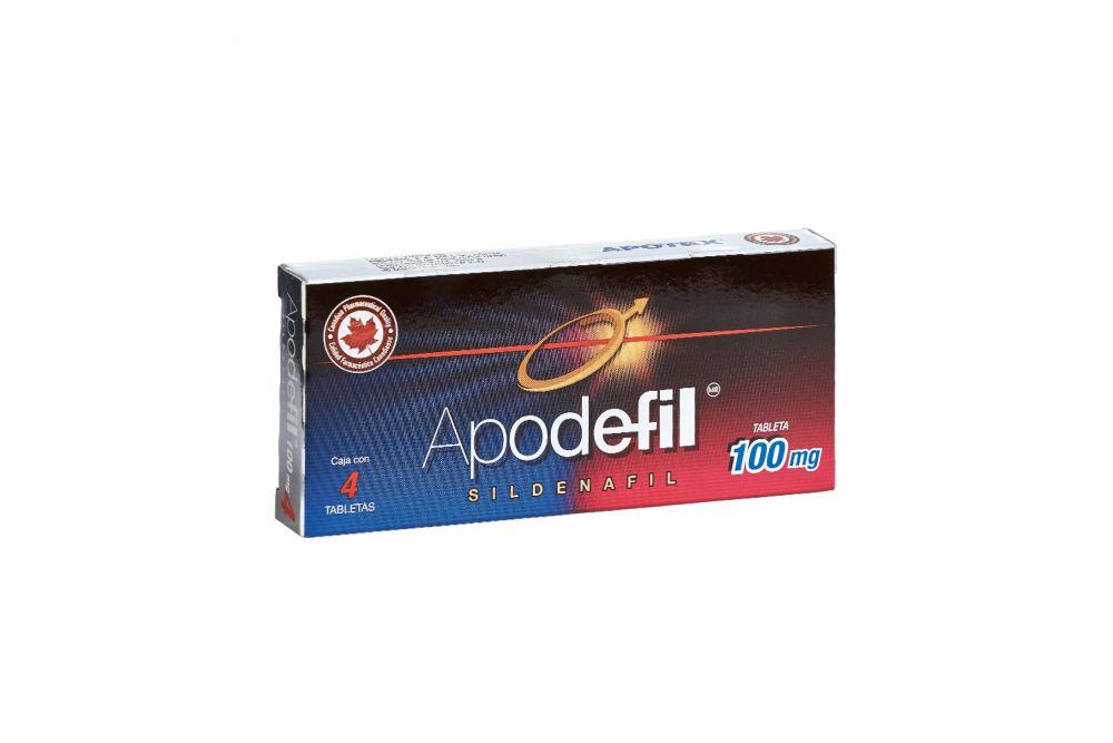 Apodefil 100 mg Caja Con Blíster Con 4 Tabletas