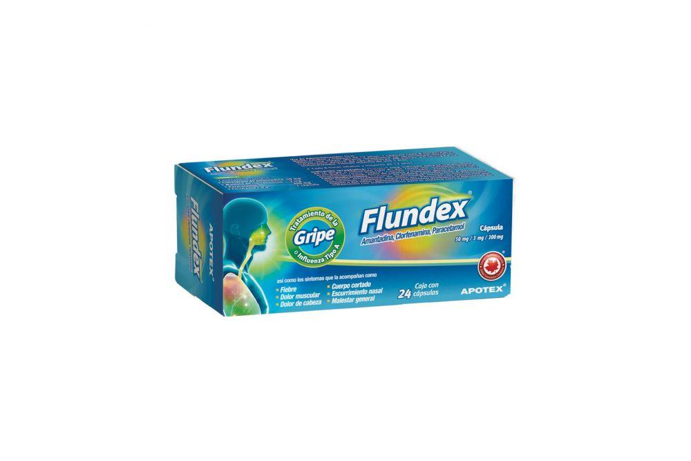 Flundex 50 mg/3 mg/300 mg Caja Con Blíster Con 24 Cápsulas