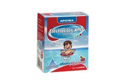 Electrolitos Apo Caja Con 4 Sobres De 28.3 g Sabor Manzana