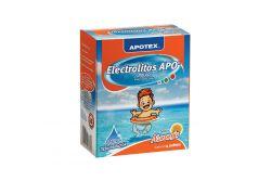 Electrolitos Apo Caja Con 4 Sobres De 28.3 g Sabor Naranja