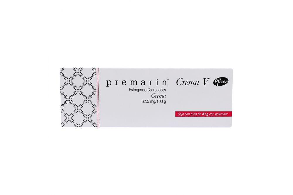 Premarin Crema V 62.5 Caja con Tubo de 43g con 3 Aplicadores