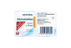 Atorvastatina 10 mg Caja Con Frasco Con 30 Tabletas Two Pack