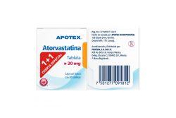 Atorvastatina 20 mg Caja Con Frasco Con 30 Tabletas Two Pack