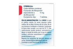 Bisoprolol 5 mg Caja Con Frasco Con 30 Tabletas