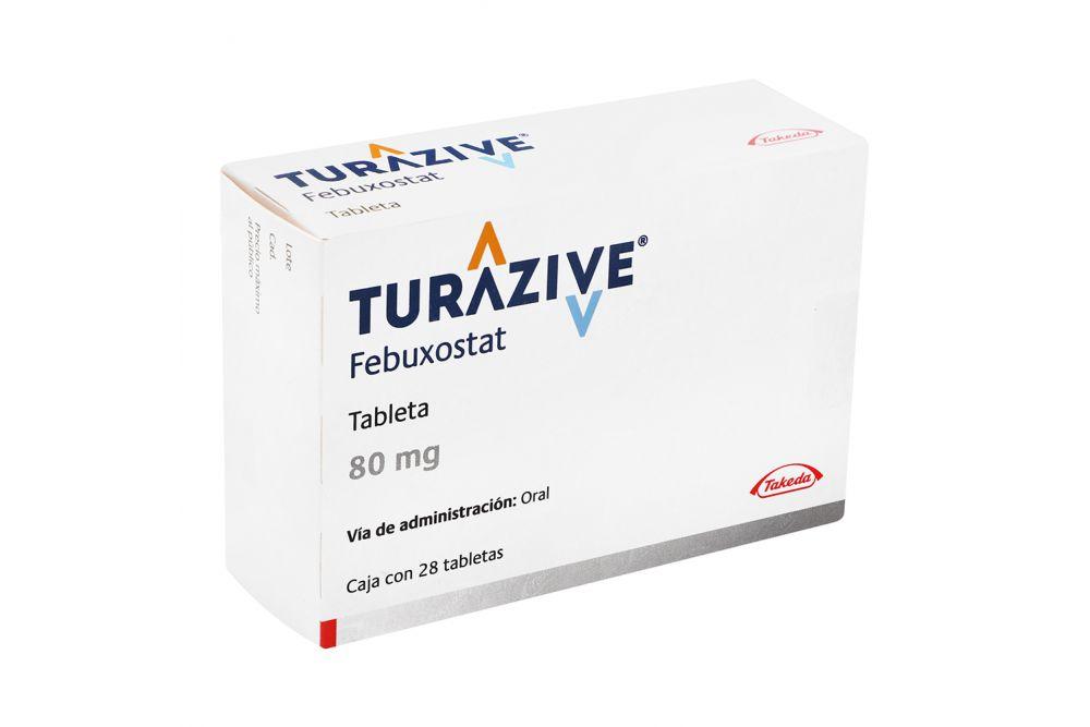 Turazive 80 mg Caja Con 28 Tabletas