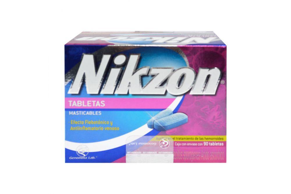 Nikzon 20 mg / 8.3 g / 40 mg Caja Con 90 Tabletas Masticables