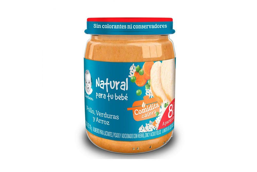 Gerber Verduras Con Pollo y Arroz 3Era Etapa Frasco Con 170 g