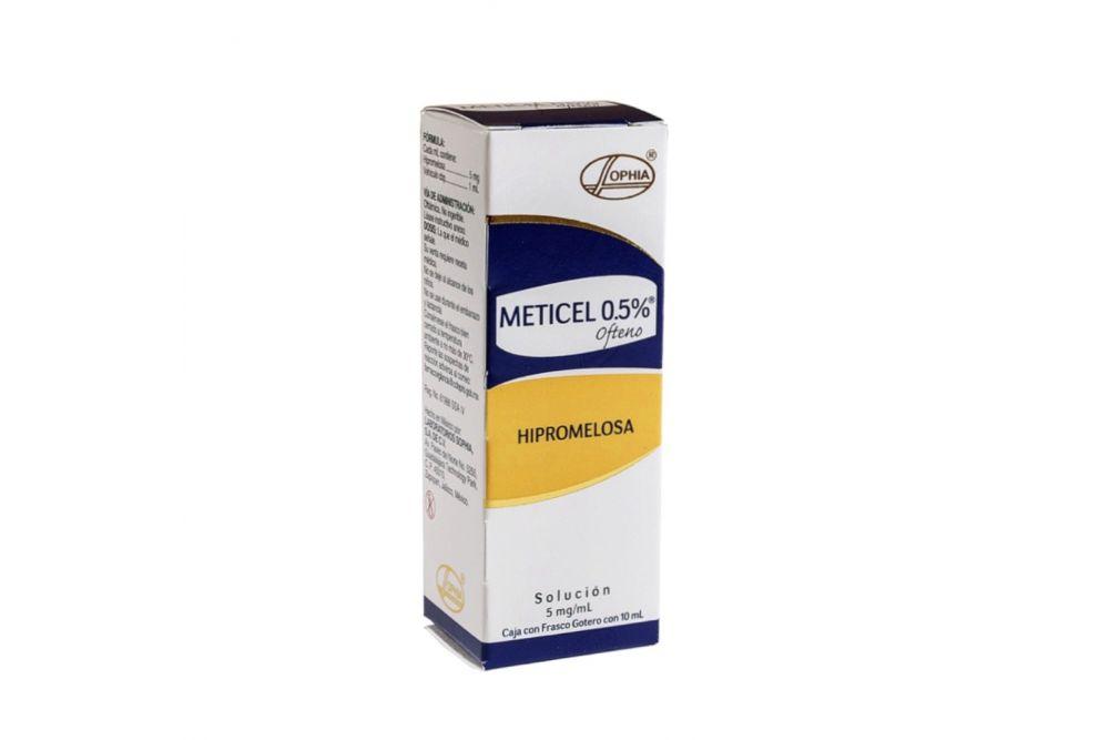 Meticel Ofteno Solución 0.5% Caja Con Frasco Gotero Con 10mL