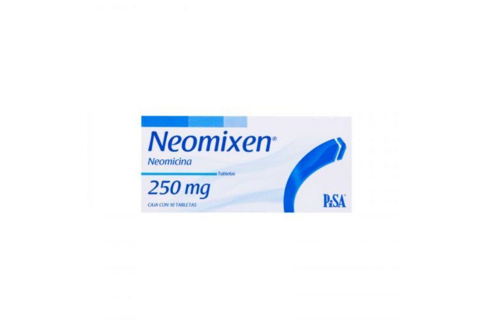 Neomixen 250 mg Caja Con 10 Tabletas RX2