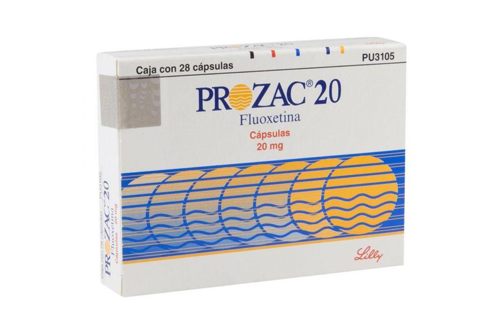 Prozac 20 mg Caja con 28 Cápsulas