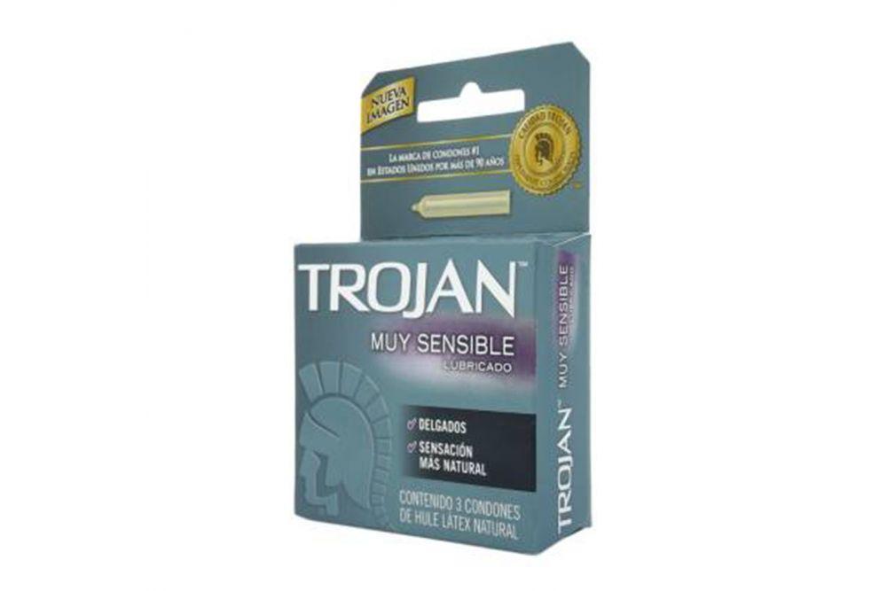 Trojan Lubricado Caja Con 3 Condones
