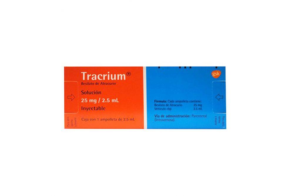 Tracrium 25 mg Caja Con Una Ampolleta Con 2.5  -RX3