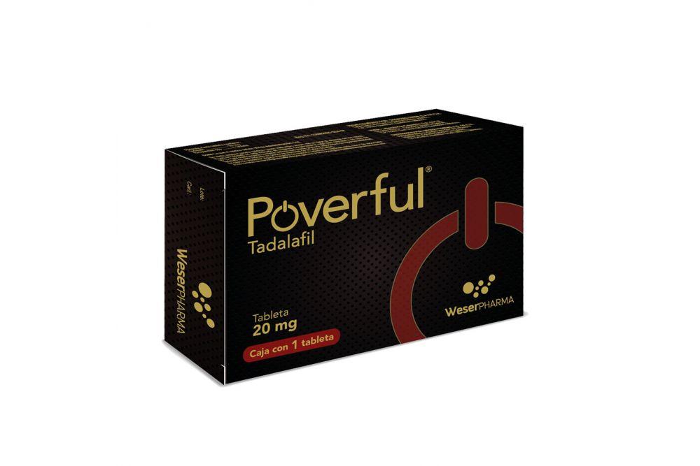 Poverful 20 mg Caja Con 1 Tableta