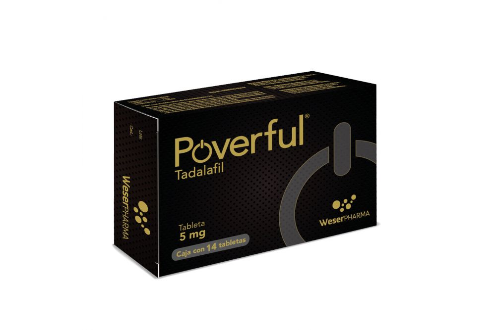 Poverful 5 mg Caja Con 14 Tabletas