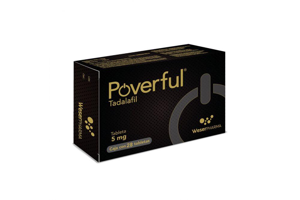 Poverful 5 mg Caja Con 28 Tabletas