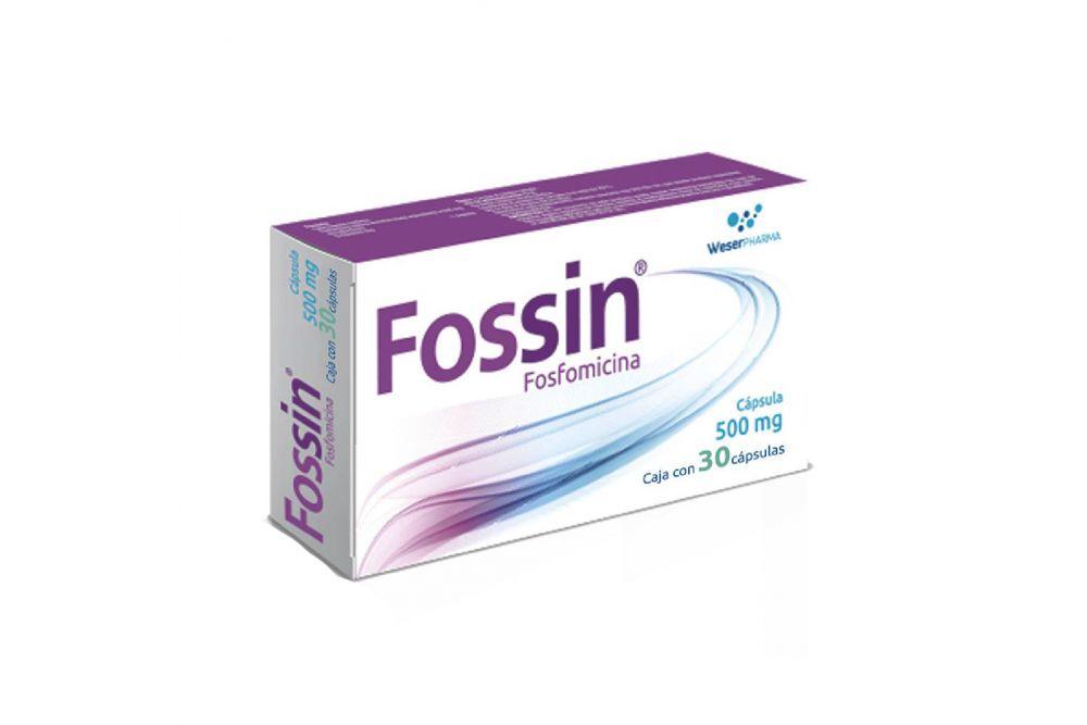 Fossin 500 mg Caja Con 30 Cápsulas - RX2