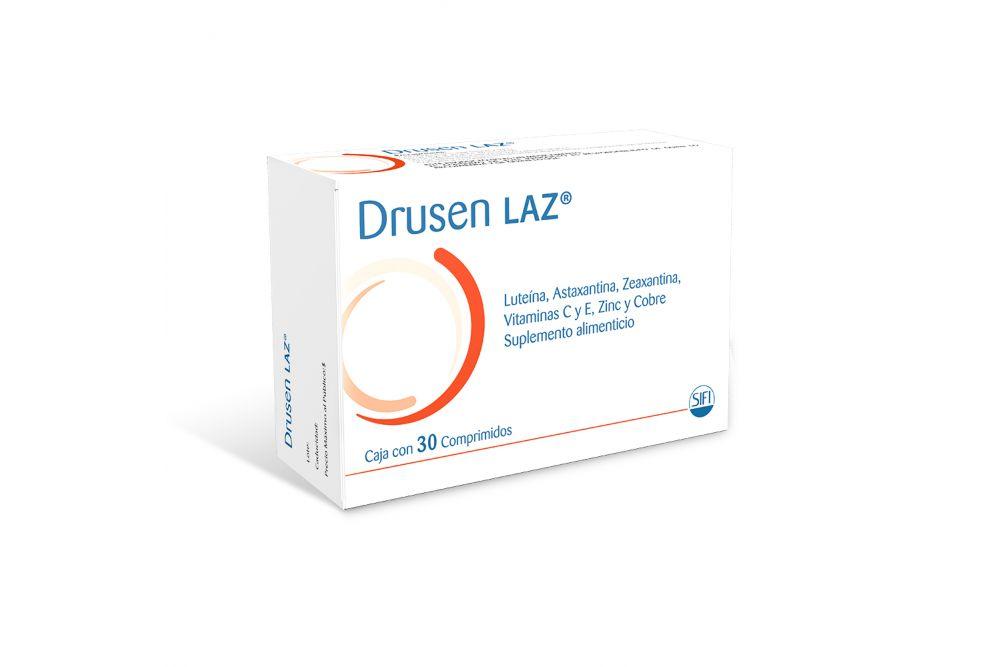 Drusen LAZ Suplemento Alimenticio Caja Con 30 Comprimidos