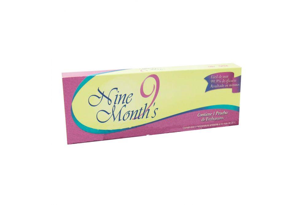 Prueba De Embarazo Nine Months Caja Con 1 Pieza