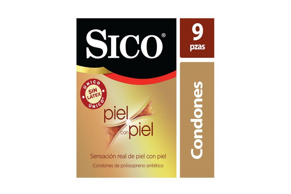 Condones Sico Sin Látex Piel Con Piel Caja Con 9 Piezas