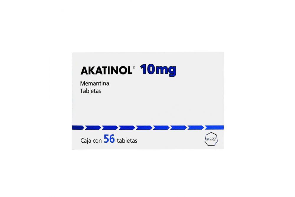 Akatinol De 10 mg Caja Con 56 Tabletas