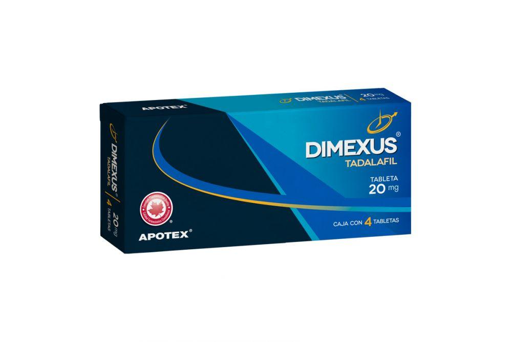 Dimexus 20 mg Caja Con Blíster Con 4 Tabletas